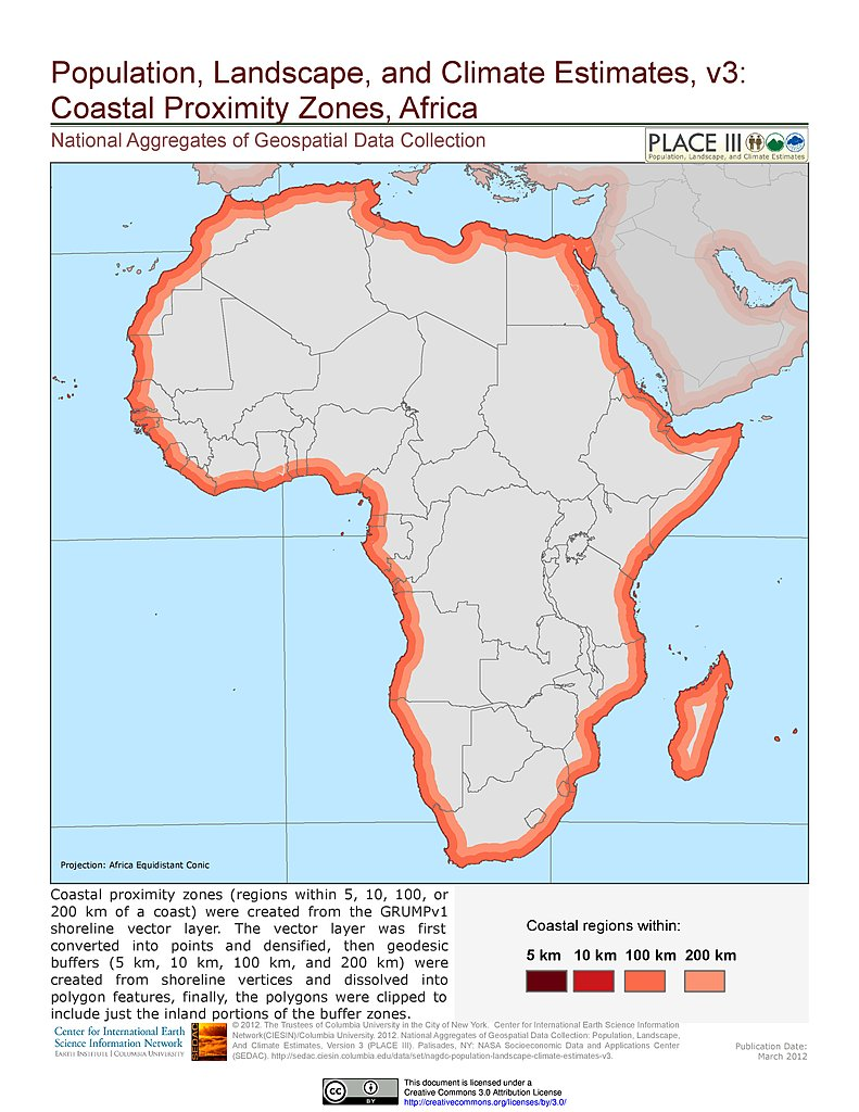 Map Of Africa Climate Zones.Maps Population Landscape And Climate Estimates Place V3 Sedac