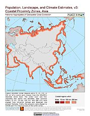 Map: Coastal Proximity Zones: Asia