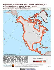 Map: Coastal Proximity Zones: North America
