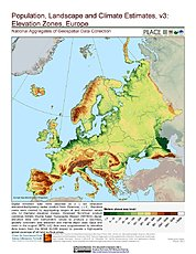 Map: Elevation Zones: Europe