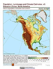 Map: Elevation Zones: North America