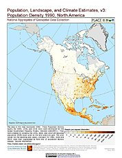 Map: Population Density (1990): North America