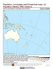Map: Population Density (1990): Oceania