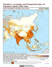 Map: Population Density (2000): Asia