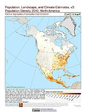 Map: Population Density (2000): North America