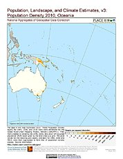 Map: Population Density (2010): Oceania