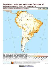 Map: Population Density (2010): South America