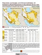 Map: Comparing Rural Populations in Dry Climate Zones: Iran