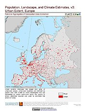 Map: Urban Extents: Europe
