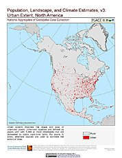 Map: Urban Extents: North America