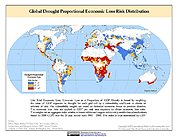 Map: Drought Proportional Economic Loss Risk Deciles