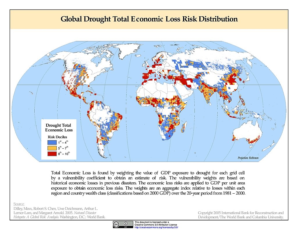 Maps natural disaster hotspots sedac drought total economic loss risk deciles gumiabroncs Images