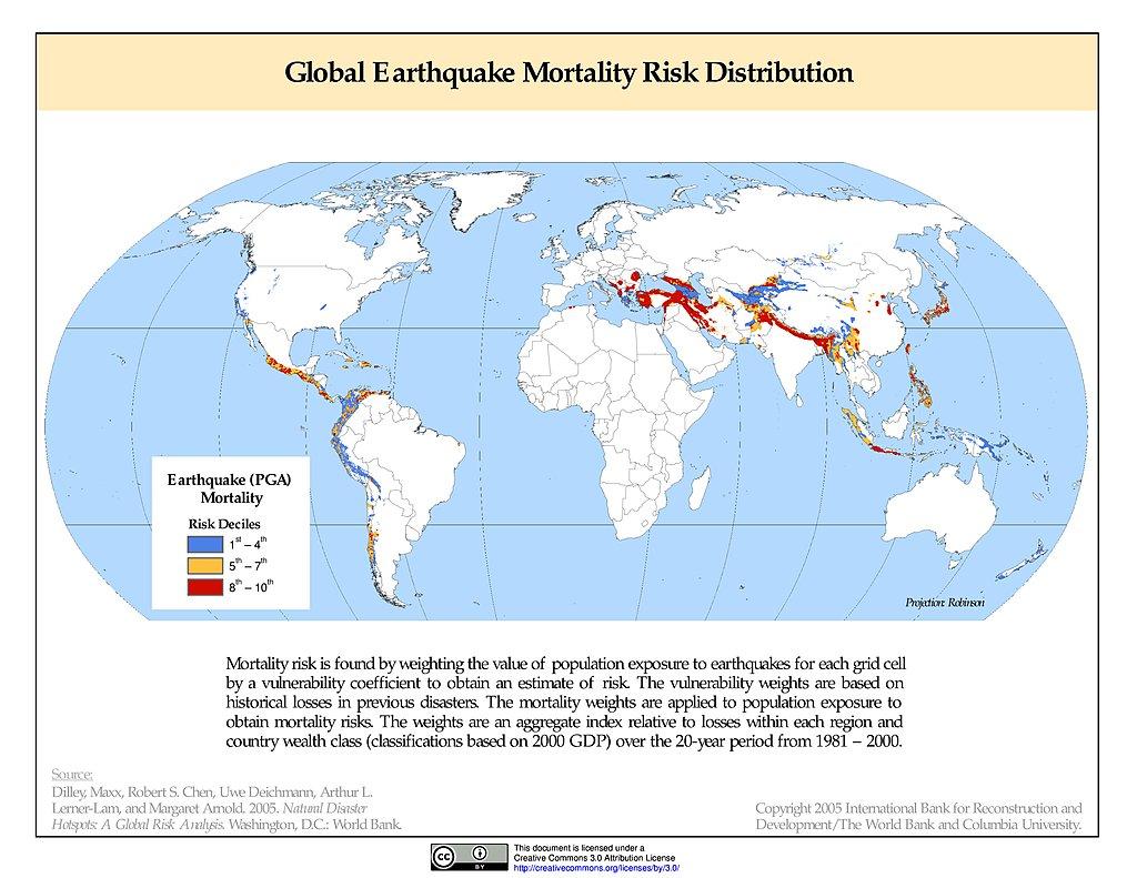 Maps natural disaster hotspots sedac earthquake mortality risks distribution gumiabroncs Image collections