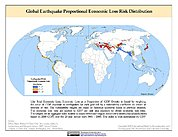 Map: Earthquake Proportional Economic Loss Risk Deciles