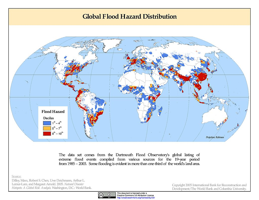 Maps Global Flood Hazard Frequency And Distribution V1 Sedac