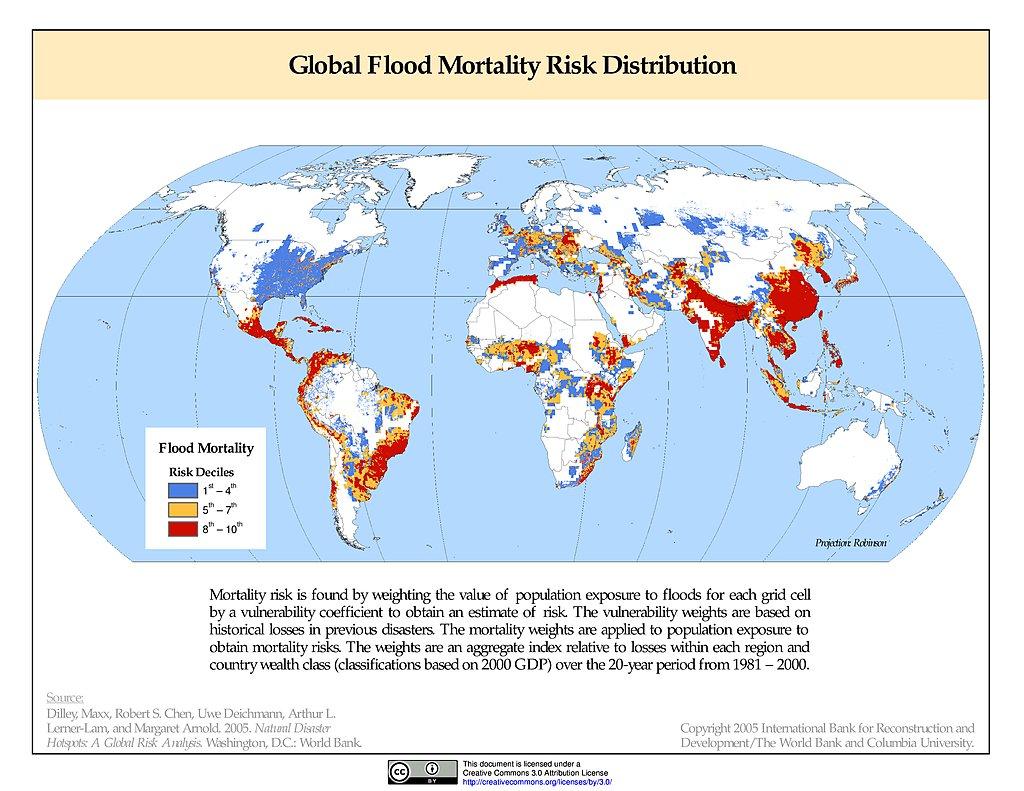 Map Gallery SEDAC - Us flood risk map