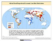 Map: Flood Proportional Economic Loss Risk Deciles