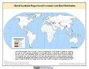 Map: Landslide Proportional Economic Loss Risk Deciles