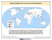 Map: Landslide Total Economic Loss Risk Deciles