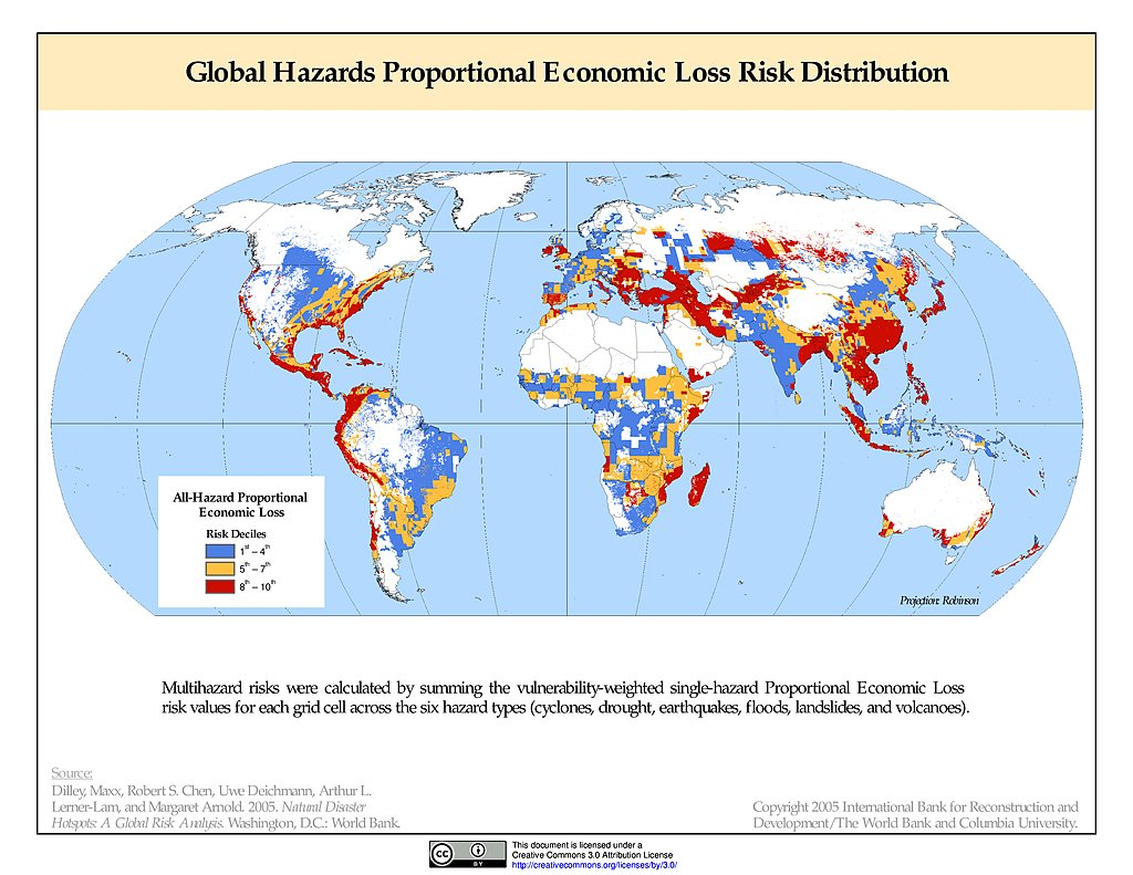 Maps » Global Multihazard Proportional Economic Loss Risk ...