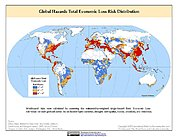 Map: Multihazard Total Economic Loss Risk Deciles