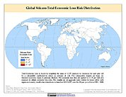 Map: Volcano Total Economic Loss Risk Deciles