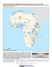 Map: Net Migration (1970-1980): Africa