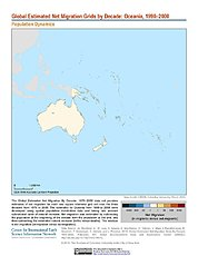 Map: Net Migration (1990-2000): Oceania