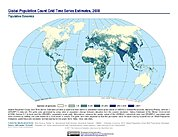 Map: Population Count Grid Estimates (2000)