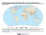 Map: Infant Mortality Rates, Version 2.01 (2015): Births