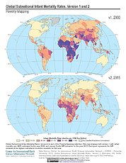 Map: Infant Mortality Rates, Version 1 and 2