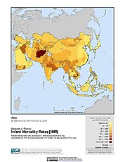 Map: Infant Mortality Rates: Asia