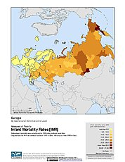 Map: Infant Mortality Rates: Europe