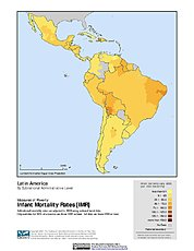 Map: Infant Mortality Rates: Latin America