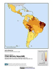 Map: Infant Mortality Rates, Specific: Latin America