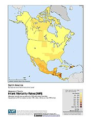 Map: Infant Mortality Rates: North America