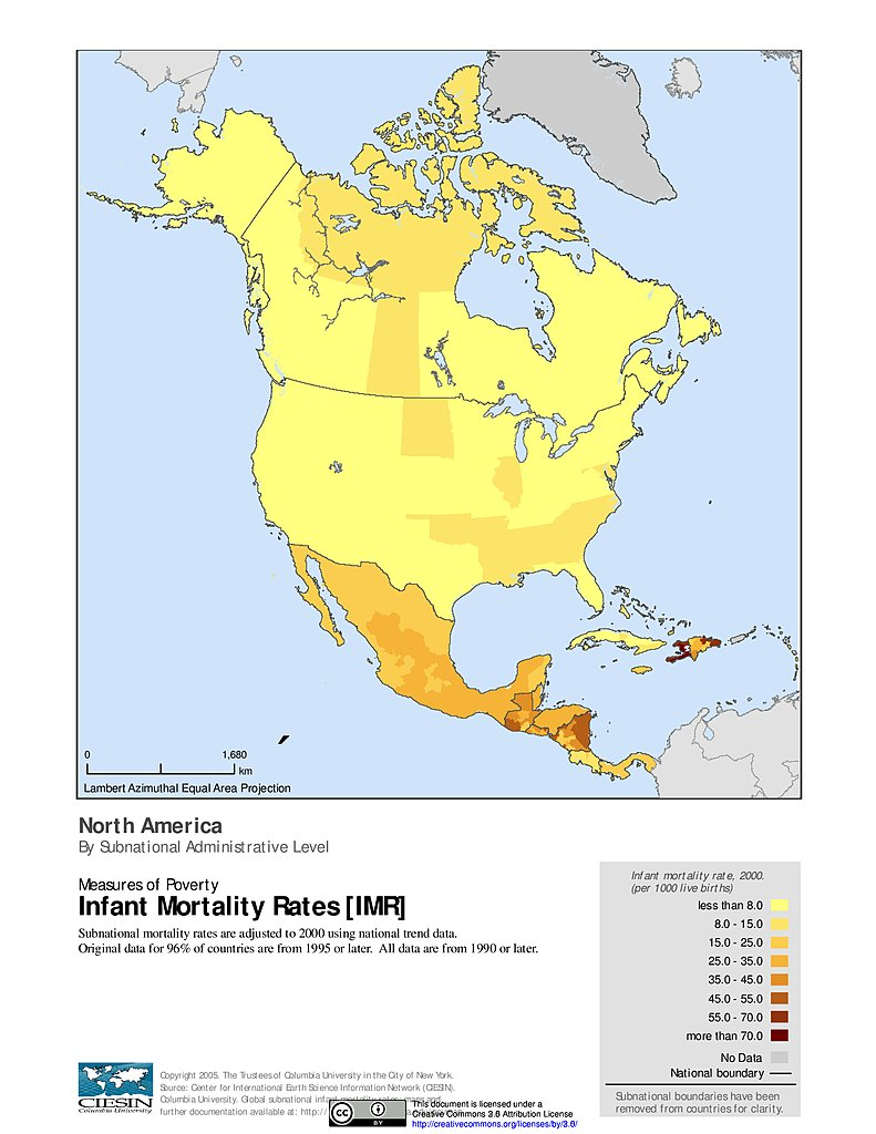 maps global subnational infant mortality rates v1 sedac