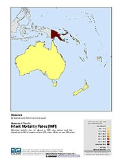 Map: Infant Mortality Rates: Oceania