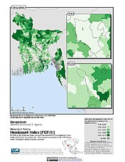 Map: Poverty Headcount Index, ADM3: Bangladesh