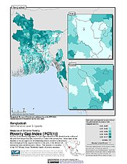Map: Extreme Poverty Gap Index, ADM3: Bangladesh