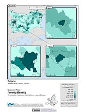 Map: Poverty Density, ADM2: Bulgaria