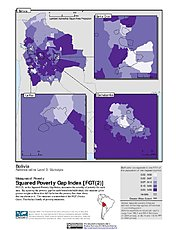 Map: Squared Poverty Gap Index, ADM3: Bolivia
