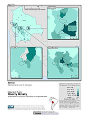 Map: Poverty Density, ADM3: Bolivia