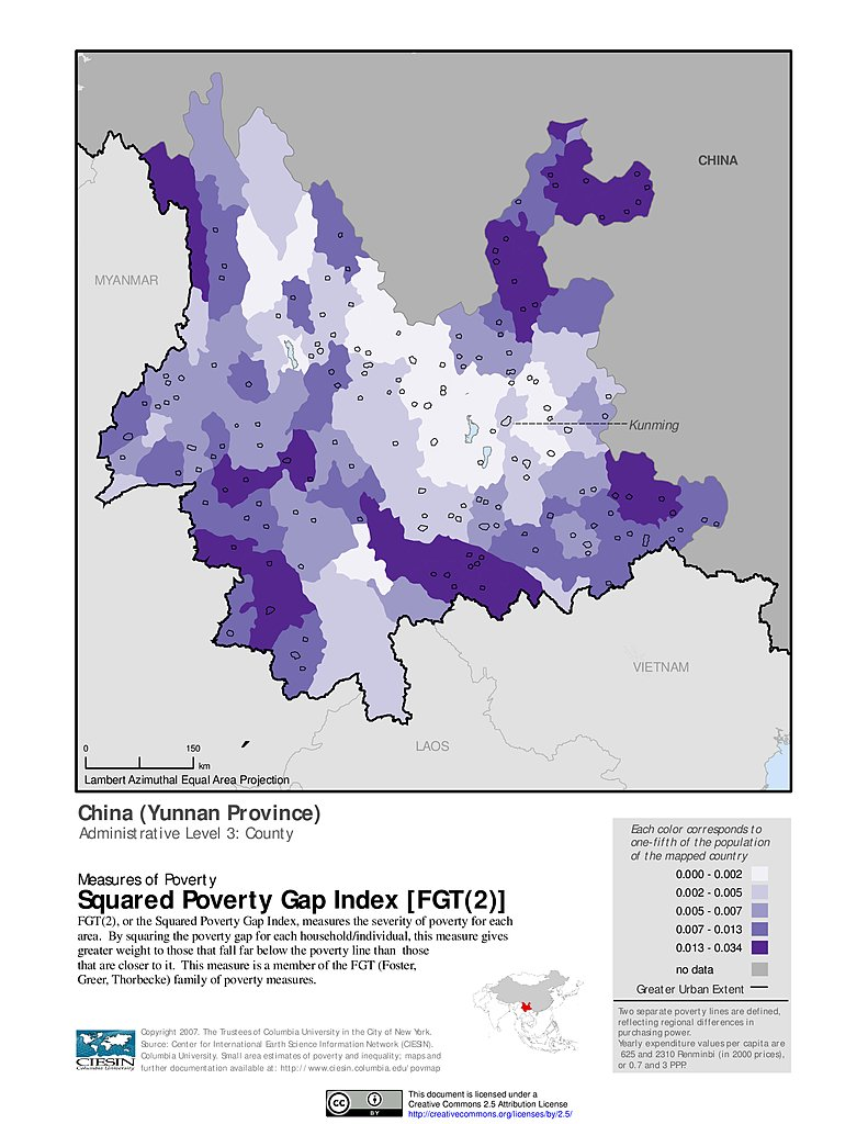 Gap China Map.Maps Poverty Mapping Sedac