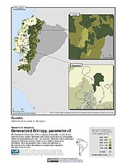 Map: Generalized Entropy Index 2, ADM3: Ecuador