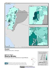 Map: Poverty Density, ADM3: Ecuador