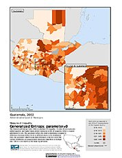 Map: Generalized Entropy Index 0, ADM2 (2002): Guatemala