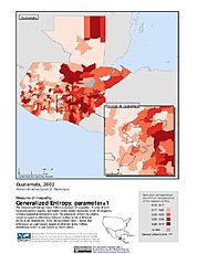 Map: Generalized Entropy Index 1, ADM2 (2002): Guatemala
