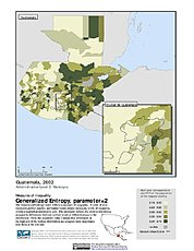 Map: Generalized Entropy Index 2, ADM2 (2002): Guatemala