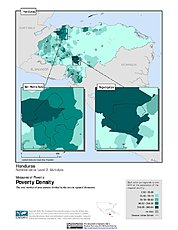 Map: Poverty Density, ADM2: Honduras